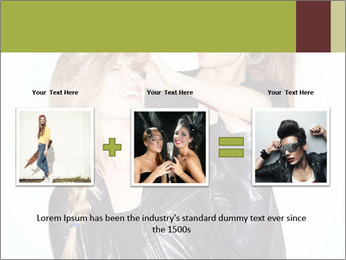 Models Wearing Black Leather Clothes PowerPoint Templates - Slide 22