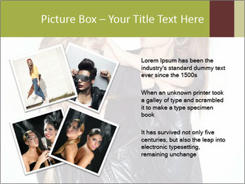Models Wearing Black Leather Clothes PowerPoint Templates - Slide 23