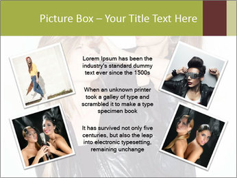 Models Wearing Black Leather Clothes PowerPoint Templates - Slide 24