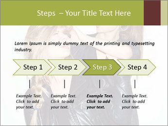 Models Wearing Black Leather Clothes PowerPoint Templates - Slide 4