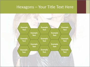 Models Wearing Black Leather Clothes PowerPoint Templates - Slide 44