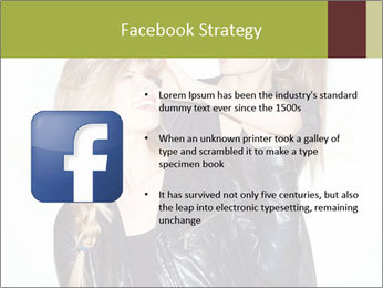Models Wearing Black Leather Clothes PowerPoint Templates - Slide 6