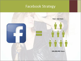 Models Wearing Black Leather Clothes PowerPoint Templates - Slide 7
