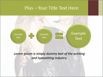 Models Wearing Black Leather Clothes PowerPoint Template - Slide 75