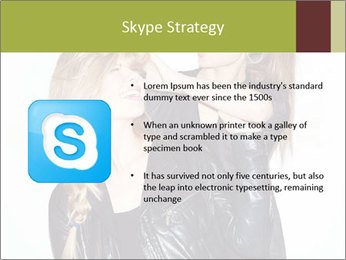 Models Wearing Black Leather Clothes PowerPoint Templates - Slide 8
