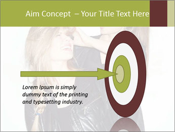 Models Wearing Black Leather Clothes PowerPoint Templates - Slide 83