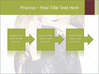 Models Wearing Black Leather Clothes PowerPoint Templates - Slide 88