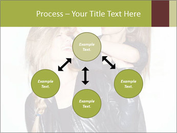 Models Wearing Black Leather Clothes PowerPoint Templates - Slide 91