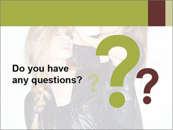 Models Wearing Black Leather Clothes PowerPoint Templates - Slide 96