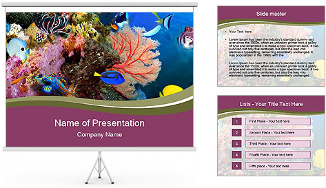 Colorful Corals PowerPoint Template