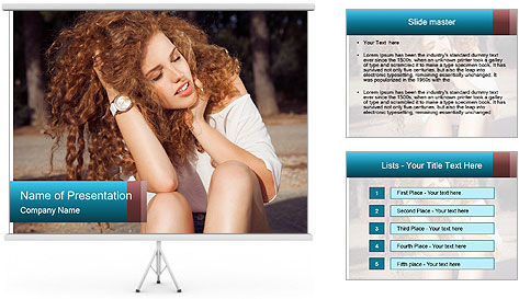 Redhead Woman PowerPoint Template