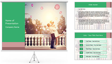 Retro Style Wedding PowerPoint Template