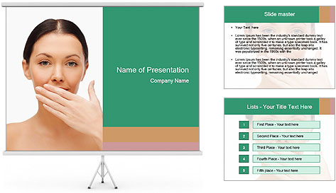 Unhealthy Woman PowerPoint Template