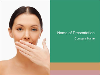 Unhealthy Woman PowerPoint Template - Slide 1