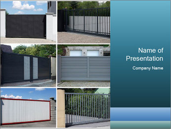 Protective House Gate PowerPoint Template - Slide 1