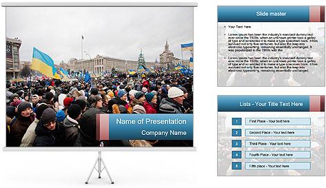 Maidan In Kyiv PowerPoint Template