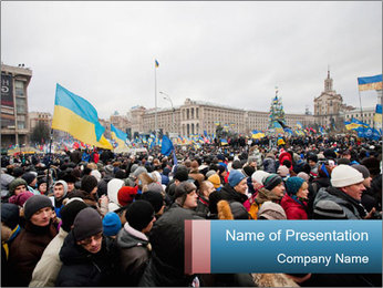 Maidan In Kyiv PowerPoint Template - Slide 1