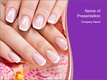 Closeup Manicur PowerPoint Template