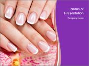Closeup Manicur PowerPoint Templates