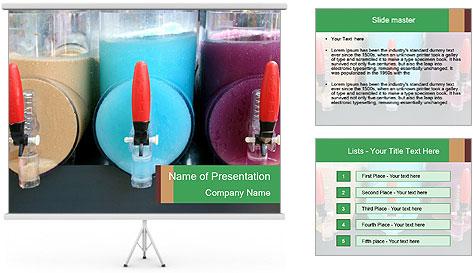 Juice Machine PowerPoint Template