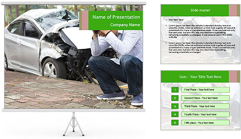 Crashed Auto PowerPoint Template