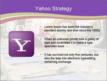 Huge Dinner Table Outside PowerPoint Template - Slide 11