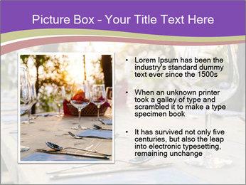 Huge Dinner Table Outside PowerPoint Template - Slide 13