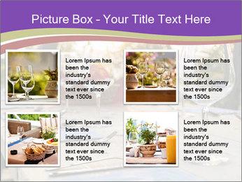 Huge Dinner Table Outside PowerPoint Template - Slide 14