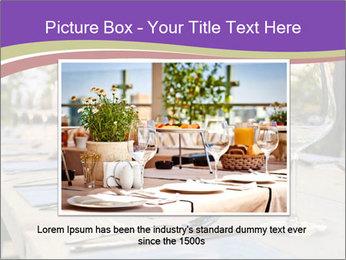 Huge Dinner Table Outside PowerPoint Template - Slide 15
