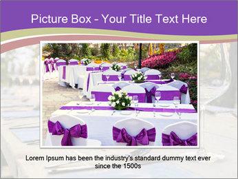 Huge Dinner Table Outside PowerPoint Template - Slide 16