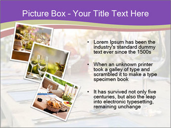 Huge Dinner Table Outside PowerPoint Template - Slide 17