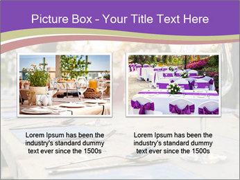 Huge Dinner Table Outside PowerPoint Template - Slide 18