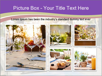 Huge Dinner Table Outside PowerPoint Template - Slide 19