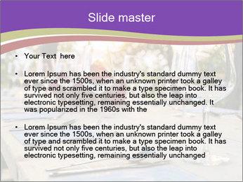 Huge Dinner Table Outside PowerPoint Template - Slide 2