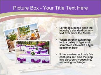 Huge Dinner Table Outside PowerPoint Template - Slide 20