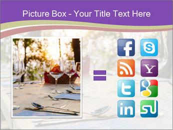 Huge Dinner Table Outside PowerPoint Template - Slide 21