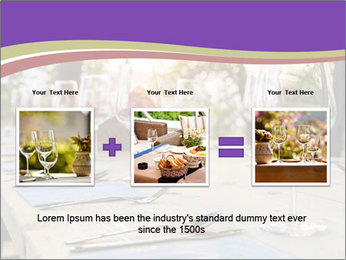 Huge Dinner Table Outside PowerPoint Template - Slide 22