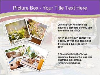Huge Dinner Table Outside PowerPoint Template - Slide 23