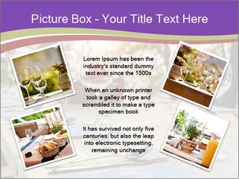Huge Dinner Table Outside PowerPoint Template - Slide 24