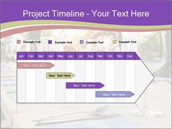 Huge Dinner Table Outside PowerPoint Template - Slide 25