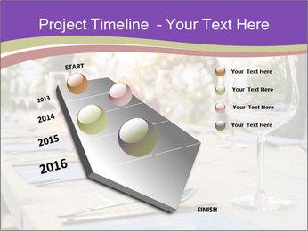 Huge Dinner Table Outside PowerPoint Template - Slide 26