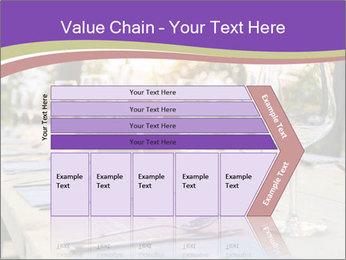 Huge Dinner Table Outside PowerPoint Template - Slide 27