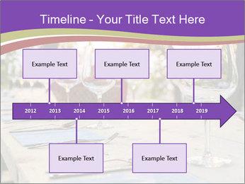 Huge Dinner Table Outside PowerPoint Template - Slide 28