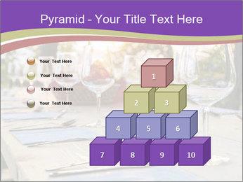 Huge Dinner Table Outside PowerPoint Template - Slide 31
