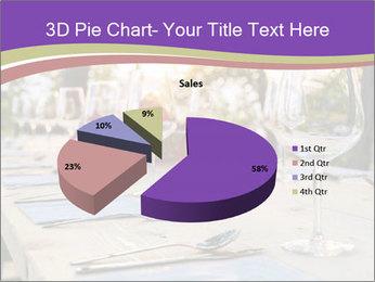 Huge Dinner Table Outside PowerPoint Template - Slide 35