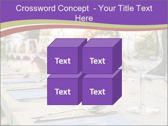 Huge Dinner Table Outside PowerPoint Template - Slide 39