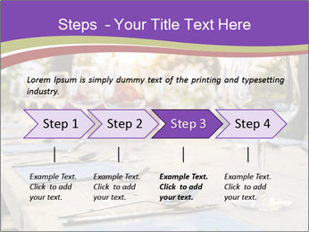 Huge Dinner Table Outside PowerPoint Template - Slide 4