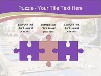 Huge Dinner Table Outside PowerPoint Template - Slide 42