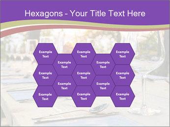 Huge Dinner Table Outside PowerPoint Template - Slide 44
