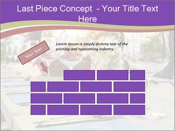Huge Dinner Table Outside PowerPoint Template - Slide 46